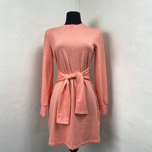 English Factory Long Sleeve Knit Tie Dress